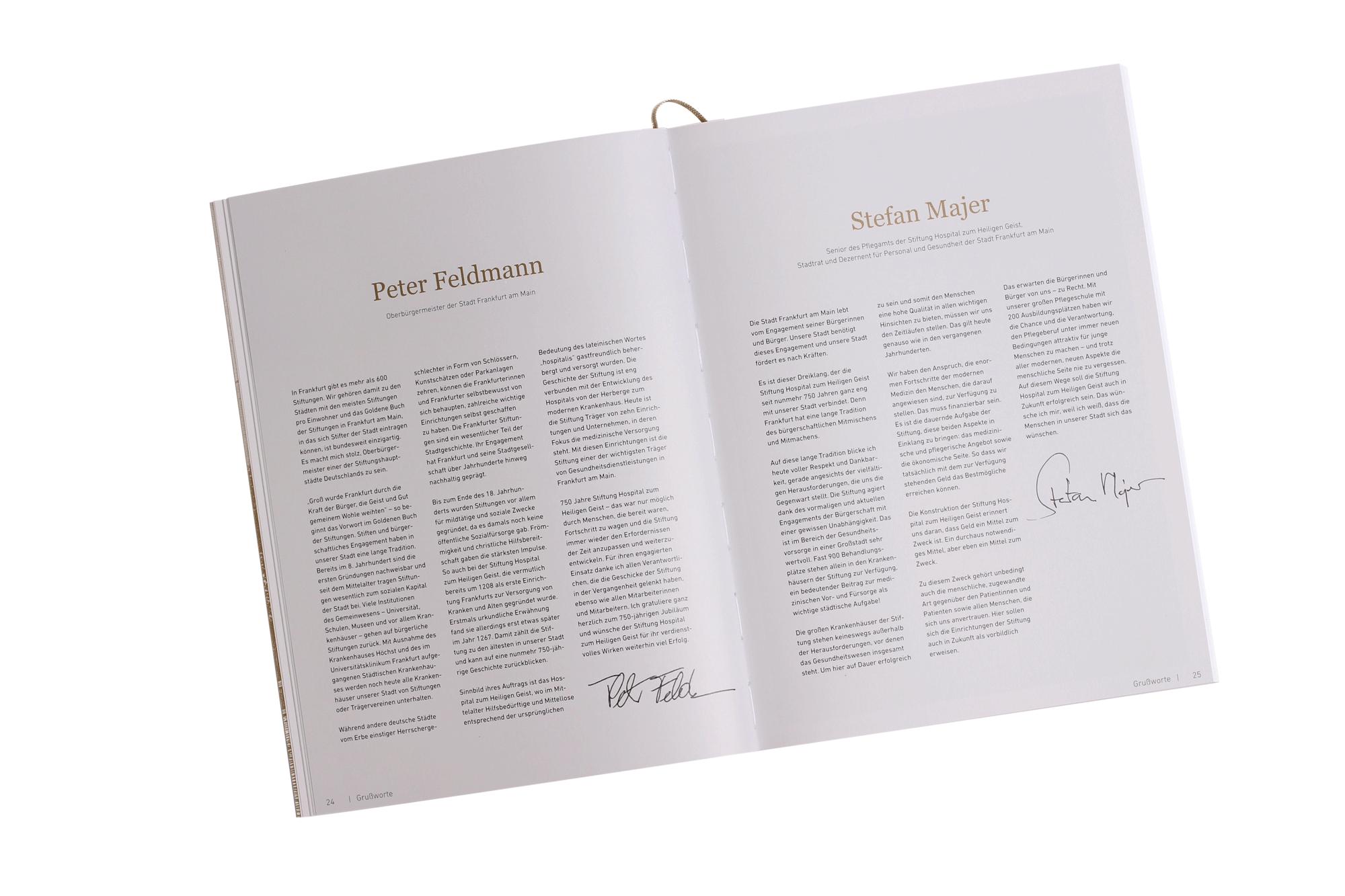 Festschrift 750 Jahre Stiftung Grußworte