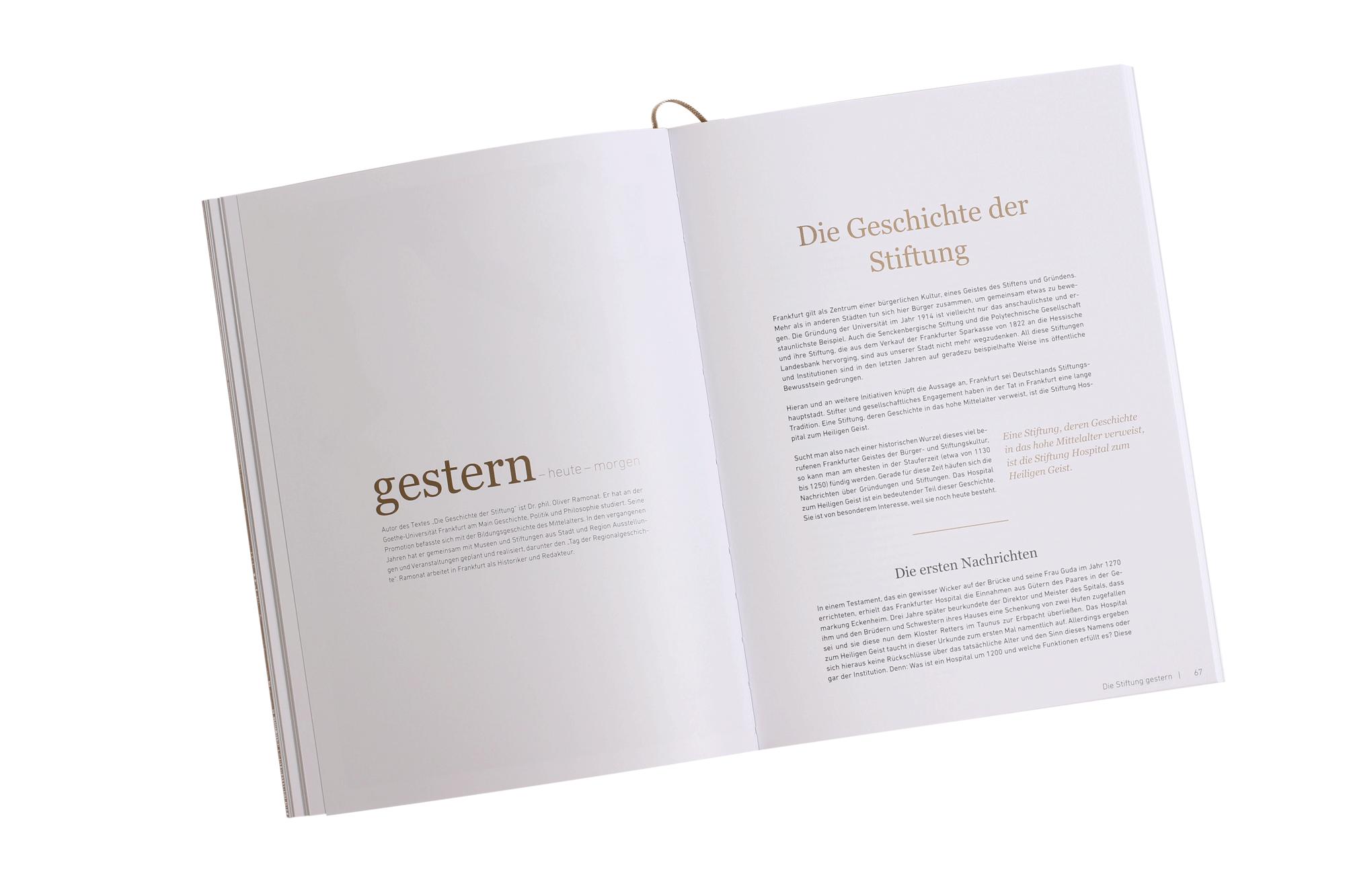 Festschrift 750 Jahre Stiftung Gestern